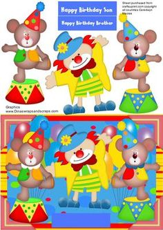 The twin bears at the circus on Craftsuprint - Add To Basket!