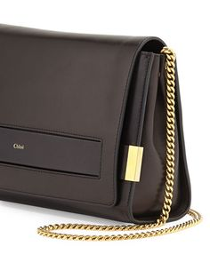 Chloe Elle Large Clutch Bag with Chain Strap, Black #wantit #needtohaveit