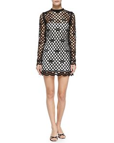 Guipure Lace Dress with Strapless Slip, Black/Ivory by Marc Jacobs at Bergdorf Goodman.