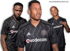 Orlando Pirates revealed their new Adidas home kit for the season, showcasing a bold new look while retaining strong elements of classic shirts from the Club's rich history. Orlando, Adidas, Happy People, Home And Away, Pirates, New Look, Soccer, Football, Kit