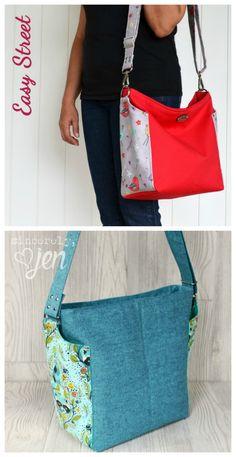 Ellen's Esplanade Easy Street Cross Body Bag pdf downloadable Sewing Pattern