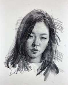 """Kisoo Chai on Instagram: """"You can watch the full video on youtube Linked in bio #art #sketch #drawing #charcoal #charcoaldrawing #charcoalportrait #portrait…"""" Sketch Drawing, Face Sketch, Drawing Skills, Portrait Drawing Tips, Portrait Sketches, Portrait Art, Bio Art, Drawing Faces, Drawings"""