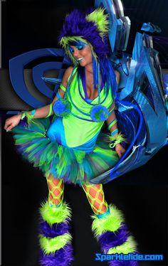 Virtual Rave Costume by SparkleFide on Etsy, $300.00