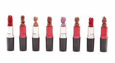 Intricate Lipstick Carvings Of Powerful Women And Other Characters - DesignTAXI.com