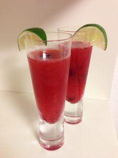 Blueberry Boat - muddle 10 blueberries in 3 oz. gin, add 1 oz. lemon, 1 oz. syrup, 10 basil leaves, shake, strain into flute