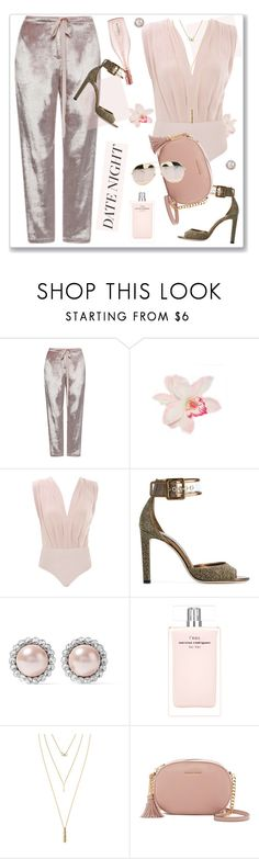 """""""Summer Date"""" by nantucketteabook ❤ liked on Polyvore featuring Rosie Assoulin, Jimmy Choo, Miu Miu, Narciso Rodriguez, Jules Smith, MICHAEL Michael Kors, Christian Dior, Summer, monochrome and date"""