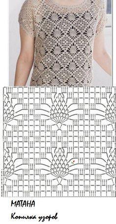 Diy Crafts - Fabulous Crochet a Little Black Crochet Dress Ideas. Georgeous Crochet a Little Black Crochet Dress Ideas. Gilet Crochet, Crochet Cardigan Pattern, Crochet Motifs, Crochet Diagram, Crochet Stitches Patterns, Crochet Blouse, Crochet Chart, Crochet Lace, Knitting Patterns