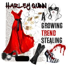 """High Fashion Harley Quinn"" by marisatacoma on Polyvore"
