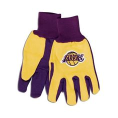 Los Angeles Lakers Two Tone Gloves - Adult