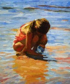Colorful Beach Girl