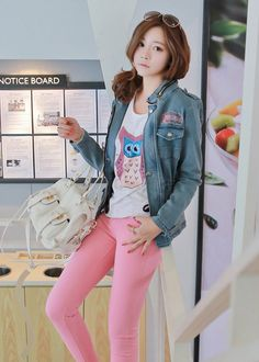 Pink skinny jeans ♥