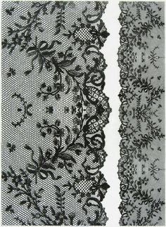 Rice Paper for Decoupage, Scrapbook Sheet, Craft Paper Vintage Black Lace