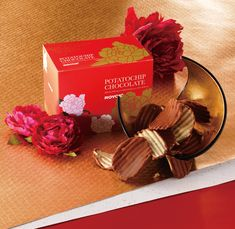 """Share some good vibes and a treat worth courting luck for the upcoming Lunar New Year with a box of our Potatochip Chocolate """"Original"""" (New Year Design)! Royce Chocolate, Chocolate Wafers, Chocolate Coating, Chocolate Covered Potato Chips, Chocolate Covered Almonds, Lunar New Year 2020, Happy Lunar New Year, Japanese Chocolate, New Year Designs"""