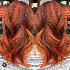 I love this gorgeous hair color by @yorcheb, just in time for fall! Pumpkin Spice - it's no longer just a drink! ☕️ #pumpkinspice #pumpkinspicehair #dimensionalcopper #fallhair #fallhaircolor #fallhairtrends #fallhairdontcare #hairinspiration #fallready #autumnhair
