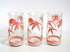 Pink palm tree glasses from the 80s - not exactly vintage but I still love them