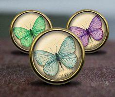 Vintage Butterflies  / Vintage Bronze Dresser knobs cabinet Dresser Knobs pull / Dresser Pull / Cabinet Knobs / Furniture Knobs by GibbsHouse on Etsy https://www.etsy.com/listing/290646541/vintage-butterflies-vintage-bronze