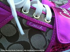 I like taking close-ups of things to show the fine detail and craftsmanship. I just admire it so much and think it's beautiful... <3 Coach sneakers close-up...