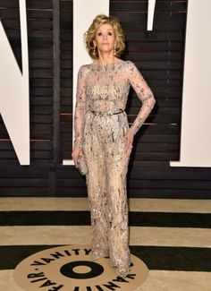 Jane Fonda at the Vanity Fair Oscars 2015 Party. Click on the image to see more looks.