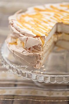 Lemon meringue cake:  finest dessert with lemon curd