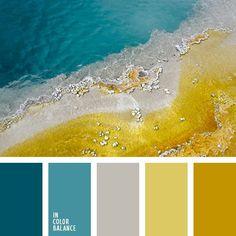 blu mediterraneo e senape