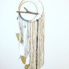 Unique Bohemian Dreamcatcher, Branch Dreamcatcher, Boho Chic Dreamcatcher, Modern Dreamcatcher, Dream catcher, Wall Hanging, Wall Art by BlairBaileyDesign on Etsy https://www.etsy.com/listing/252683249/unique-bohemian-dreamcatcher-branch
