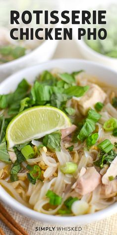 This easy, rotisserie chicken pho recipe is a quick version of the authentic Vietnamese soup. You can make the homemade broth as spicy as you want, and it can easily be made gluten free. Pho Recipe Easy, Gluten Free Pho Recipe, Instant Pot Pho Recipe, Pho Ga Recipe, Asian Recipes, Healthy Recipes, Ethnic Recipes, Quick Soup Recipes, Chinese Soup Recipes