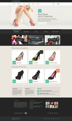 FooseShoes - Free eCommerce Website PSD Template