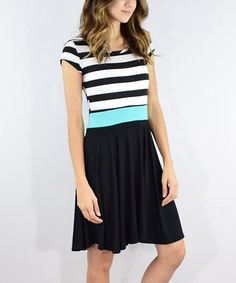 Another great find on #zulily! Black Stripe Color Block Dress #zulilyfinds