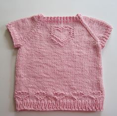 Lovely little knit T-shirt pattern, free to download,  from Down Cloverlaine