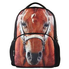 Hynes Eagle Unisex Vivid Animal Print Polyester Backpack #BacktoSchool #Amazon