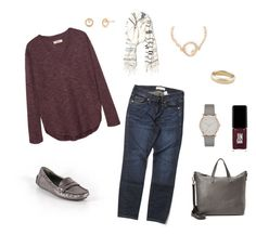 """Fall berry"" by terryjo1972 on Polyvore featuring Madewell, DKNY, JINsoon, Banana Republic and Lauren Wolf"
