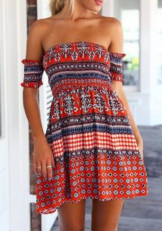 Off Shoulder Short Dress