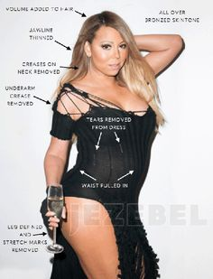Mariah Carey unphotoshopped picture leaked online