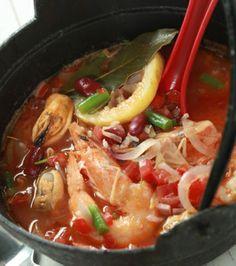 Μινεστρόνε με θαλασσινά   Γιάννης Λουκάκος Japchae, Thai Red Curry, Soup, Ethnic Recipes, Soups