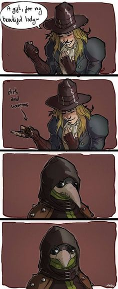 Romancing the birb Dungeons And Dragons Memes, Dungeons And Dragons Homebrew, Plauge Doctor, Darkest Dungeon, Character Poses, Illustration Sketches, Video Game Art, Dark Souls, Funny Games