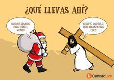 Cross is enough, Jesus Christ, santa clause. Christian Memes, Christian Life, Christian Cartoons, Faith Quotes, Bible Quotes, Bible 2, Jesus Pictures, God Loves Me, Jesus Saves
