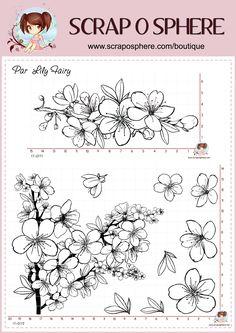 Tampons fleuris par Lily Fairy pour la Scraposphère