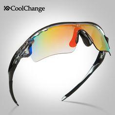 Coolchange 0093 cycling glasses bike polarized windproof outdoor sports mountain bike men and women eyewear 5 Groups of Lenses