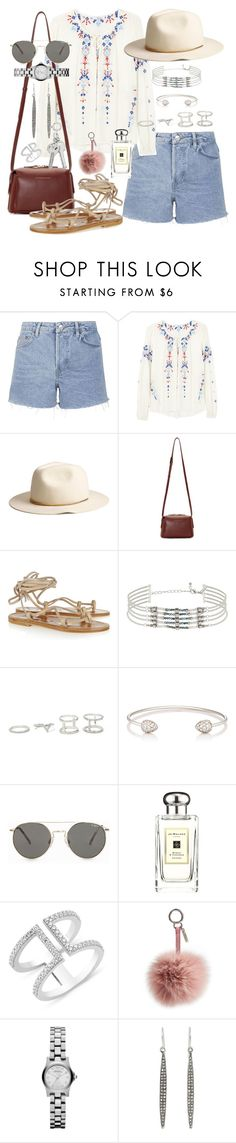"""With Love"" by marissa-91 ❤ liked on Polyvore featuring Topshop, Parker, H&M, Want Les Essentiels de la Vie, K. Jacques, Forever 21, Finn, Le Specs, Jo Malone and Fendi"