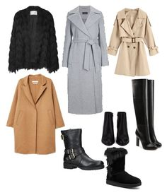 A fashion look from November 2017 featuring wool coat, fringe jackets and trench coats. Browse and shop related looks. Carvela, Victoria Beckham, Alexander Wang, Uggs, Mango, Shoe Bag, Polyvore, Stuff To Buy, Shopping