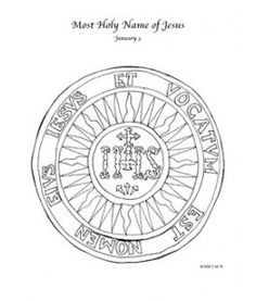 Most Holy Name of Jesus Coloring Page Printable Set  Sunday