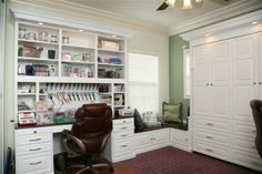 Craft room with lots of built-in storage!