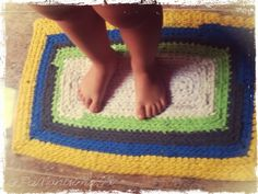 Alfombra de Trapillo Rectangular - Video Tutorial de Knit and Love
