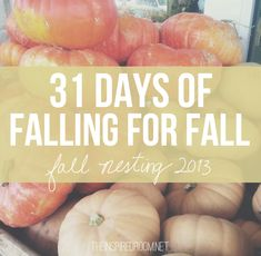 Beautiful natural decorating ideas to help your home evolve to fall, plus the start of the annual 31 days of Fall Nesting series!