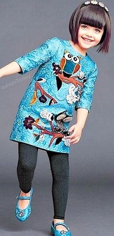 Dolce & Gabbana Owl Dress, Little Girls