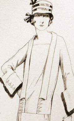 1920s sewing pattern Can be made as a dress or top by Contrapunt, €22.00