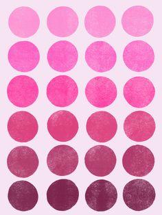 Color Play_Pink - Art Print by Garima Dhawan/Society6