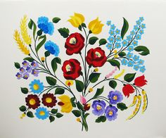 My Bohemian Aesthetic Hungarian Kalocsa embroidery. I blame my Hungarian…