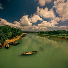 Boat in river, Bangladesh