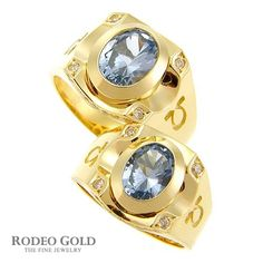 Gold rings with gemstones TCR72084